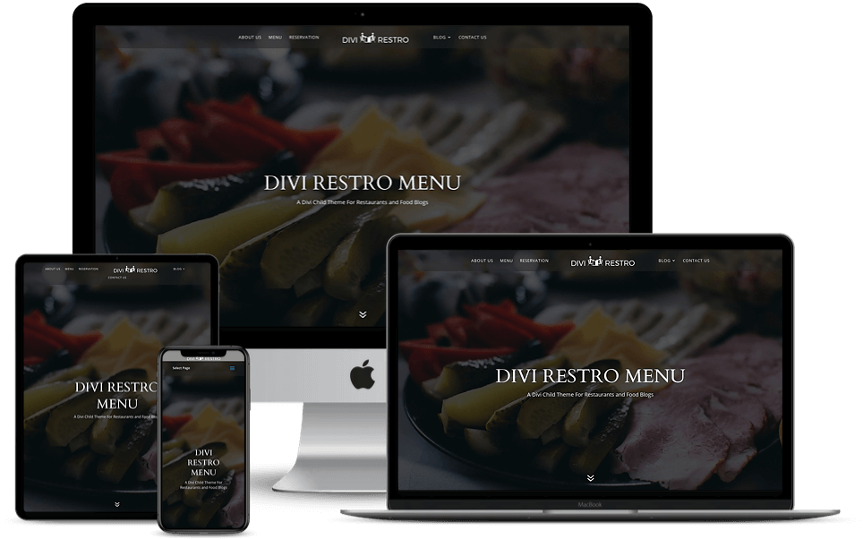 Divi Restro child theme is a device responsive child theme for restaurants and cafes