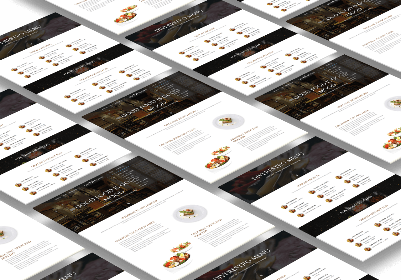 Add restaurant menu items easily with Divi Restro child theme