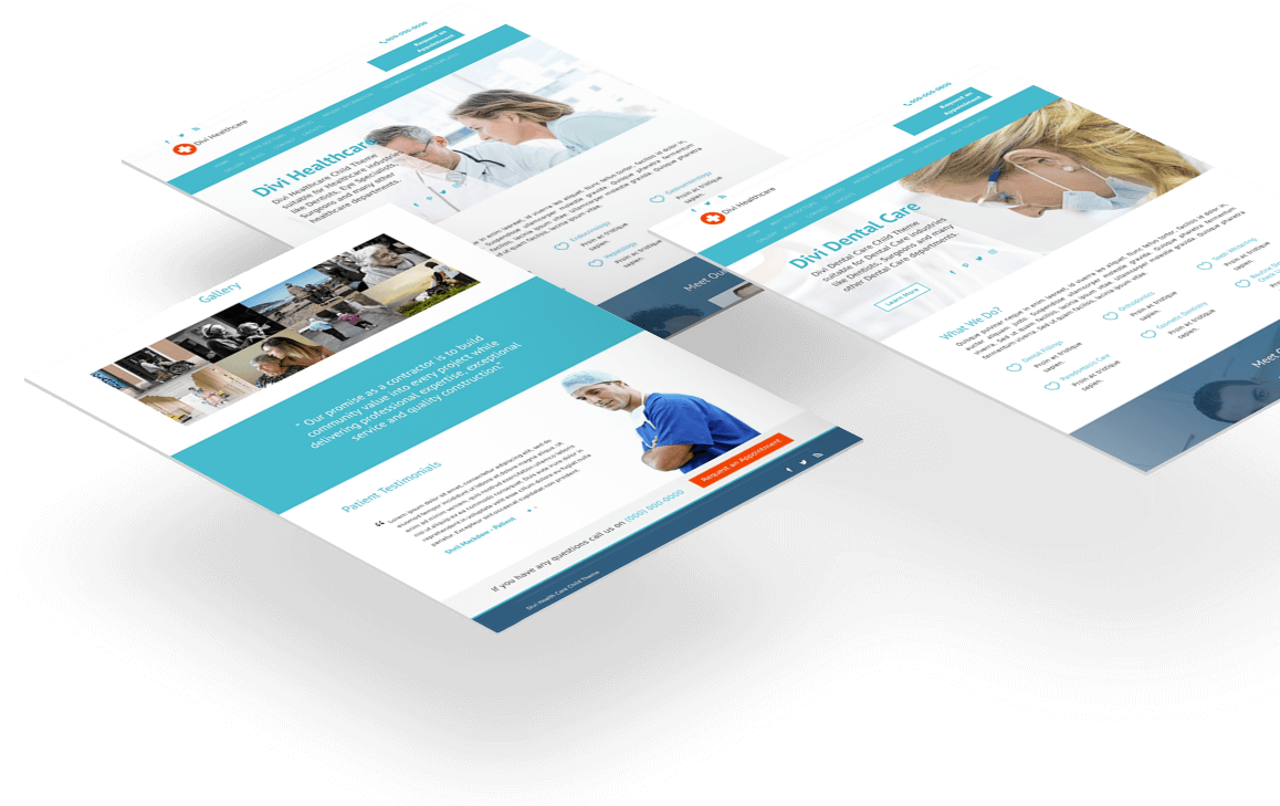 Multiple homepage layouts for medical experts of different department