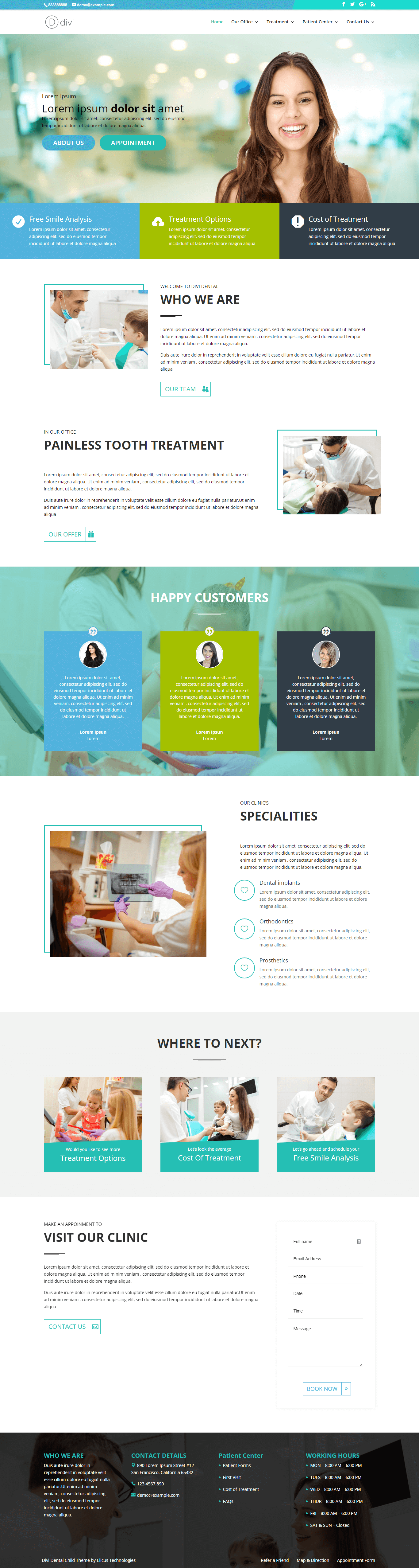 Divi dental child theme