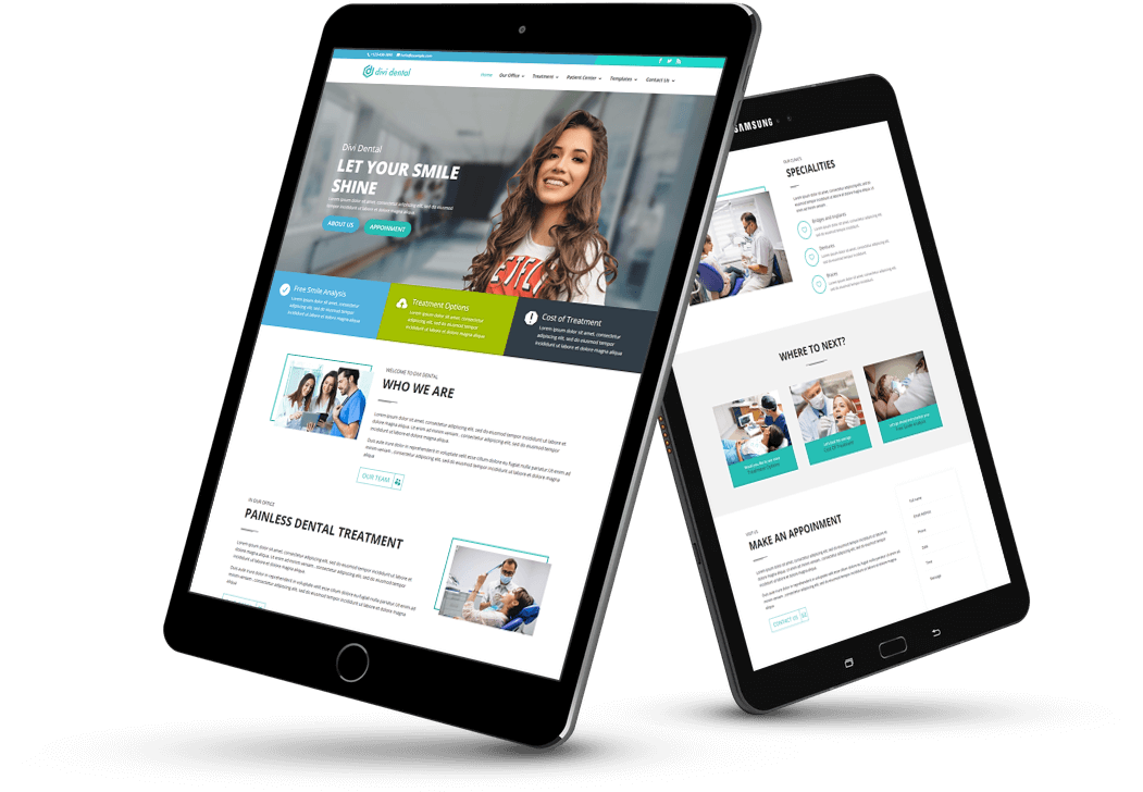 Divi Dental child theme's homepage is customizable so add or delete content according to requirements