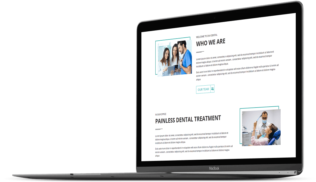 With Divi Dental child theme you get distraction free modern design
