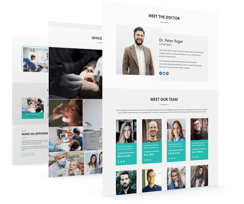 Divi Dental child theme has multiple page layouts allow you to create dental website in minimum time