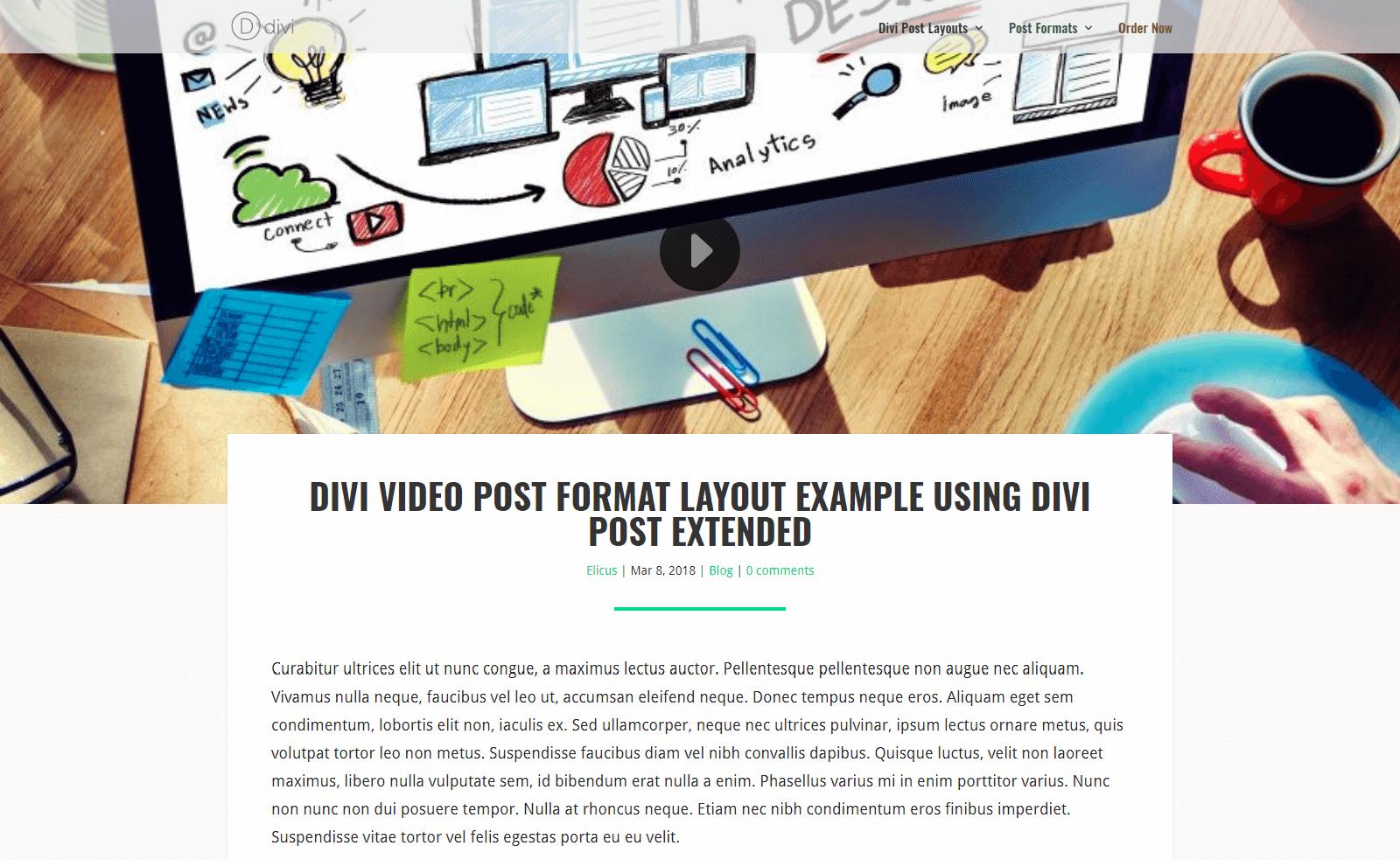 Blog Post Layout Divi