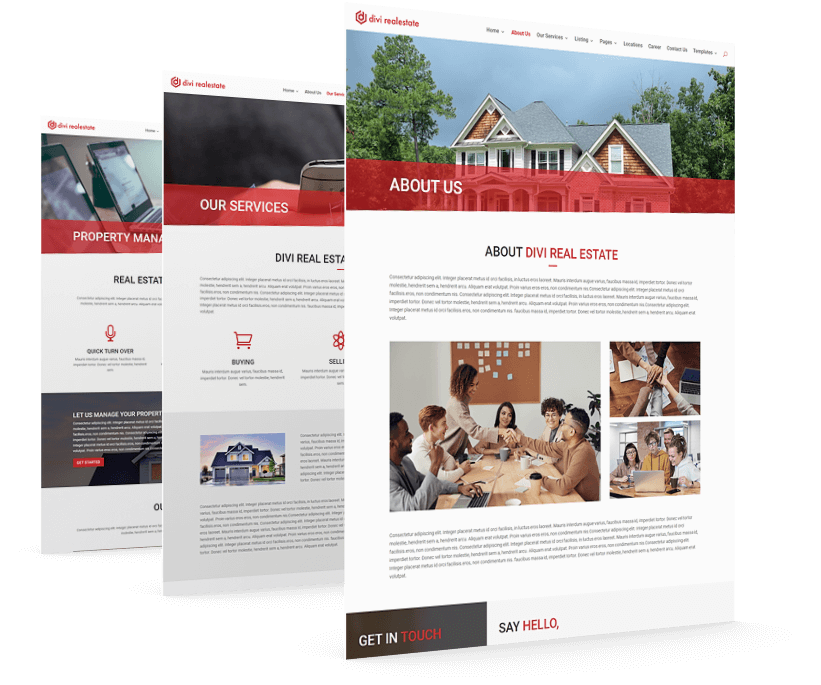 With Divi RealEstate child theme get all the necessary pages pre-built