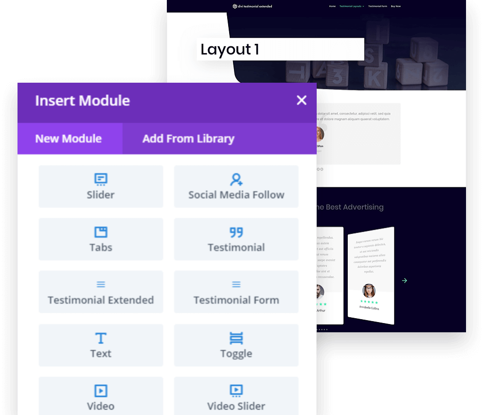 2 divi builder modules