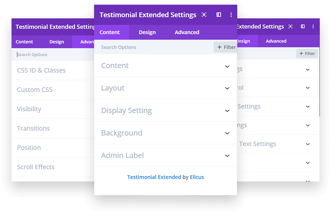 Highly customizable Divi testimonial plugin