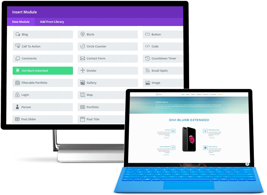 Advanced divi blurb module