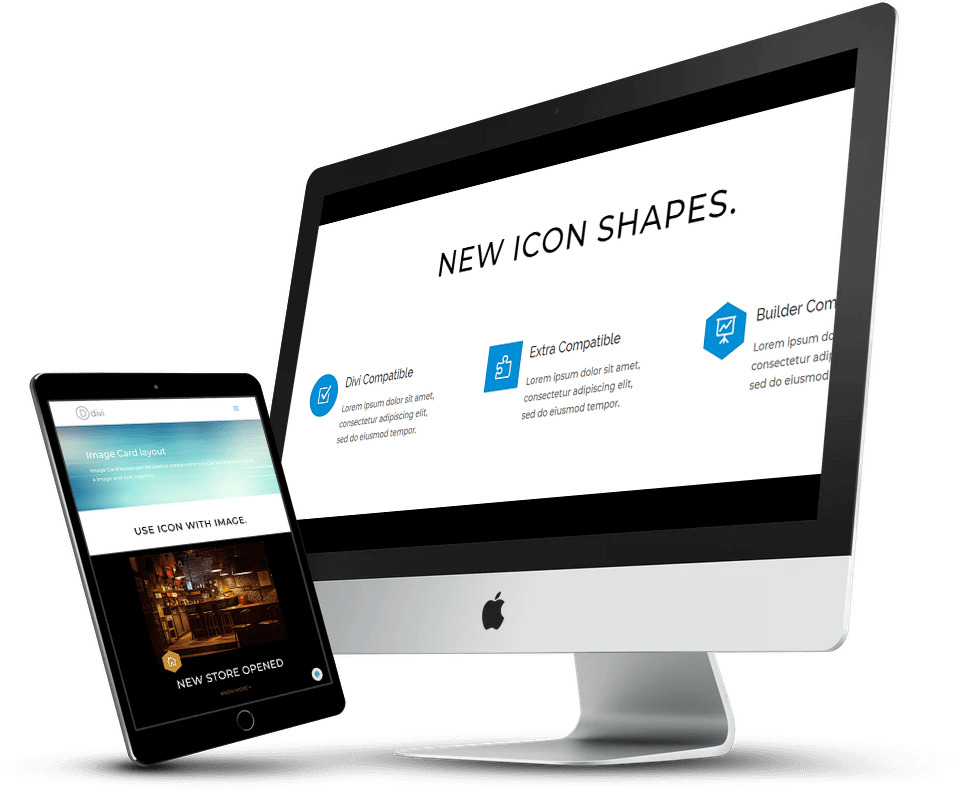 Divi blurb new icon shapes