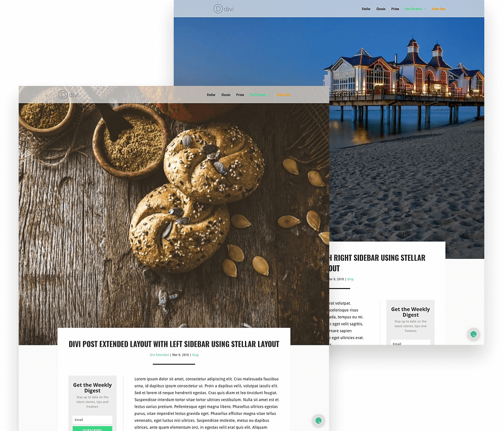 New divi blog post layouts
