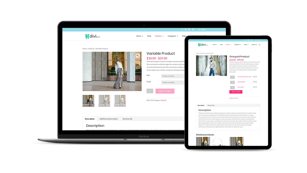Add products of different type to the digital store with Divi Cart