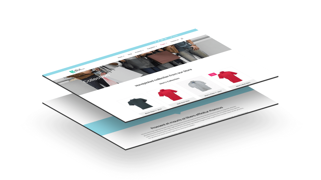 With Divi Cart you can make product collections