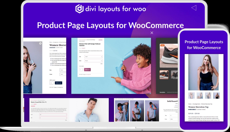 divi woocommerce layouts