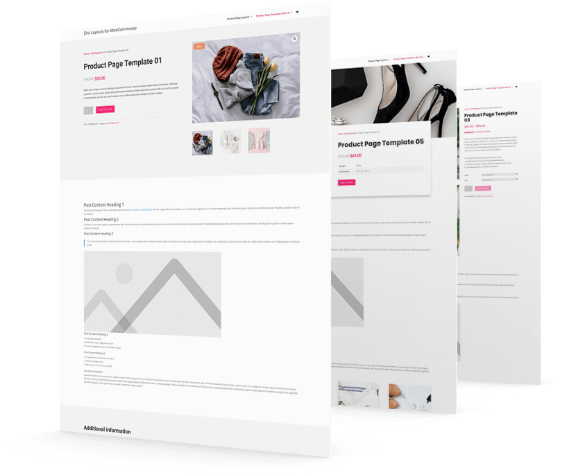 Descriptive and engaging Divi WooCommerce product page layouts