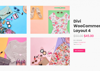 divi woocommerce layout-1
