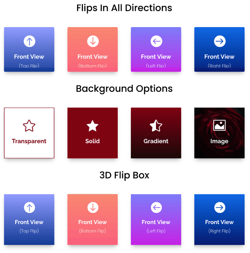 Divi Plus flip box module for Divi theme