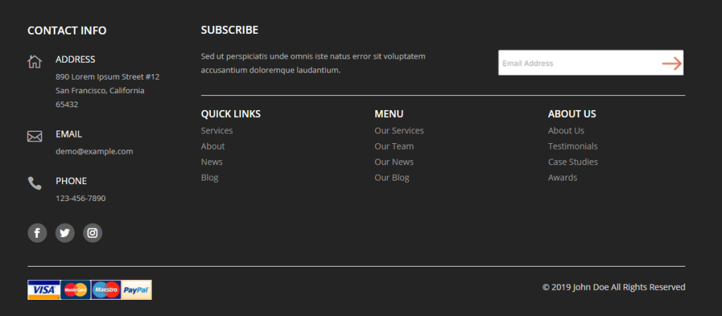 Free Divi Footer