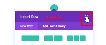 Close insert row