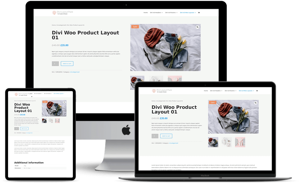 Divi 3 and Divi 4 WooCommerce product page layouts