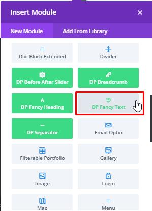 Divi Plus Fancy Text Module
