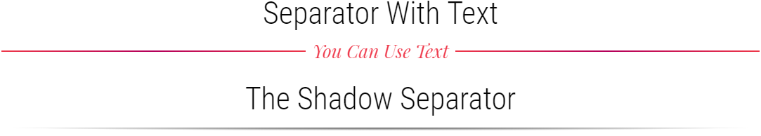Divi text & shadow separators examples