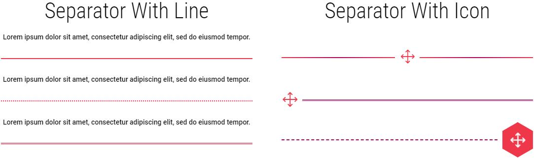 Divi line & icon separators examples