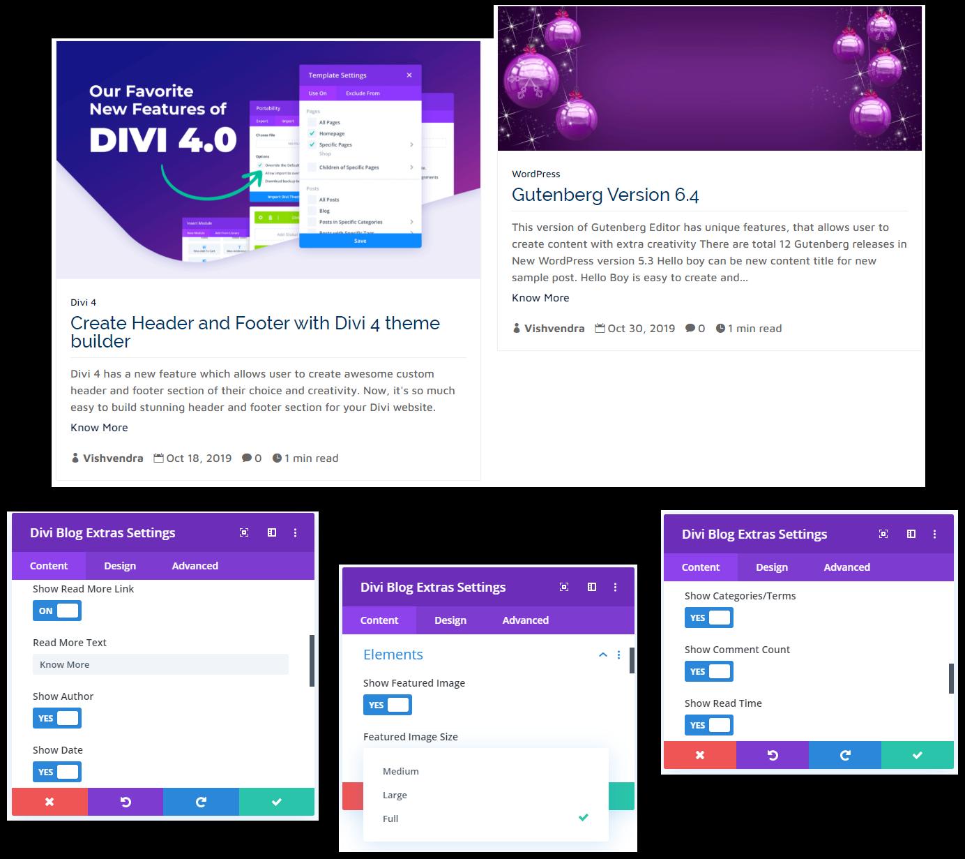 Divi Masonry Blog Layout Elements Sample 1