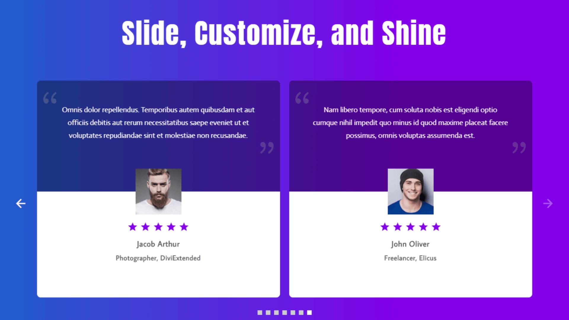 divi testimonial slider examples 1