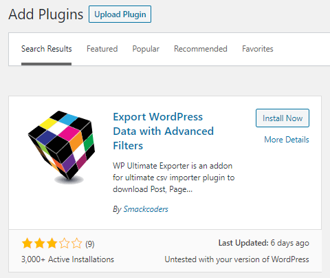 Export WordPress Data with Advanced Filters