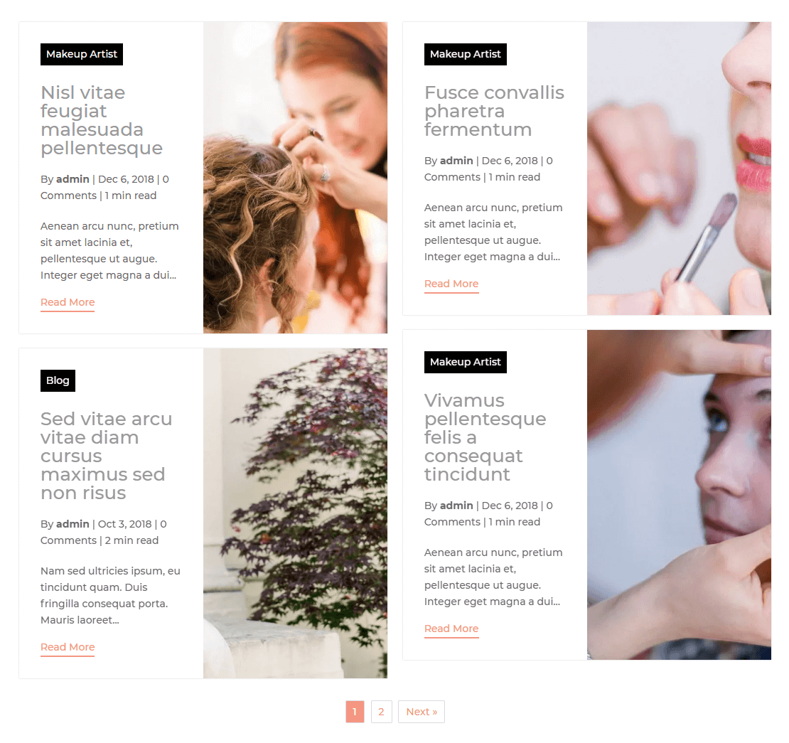 Layout Grid Extended Divi Masonry Blog
