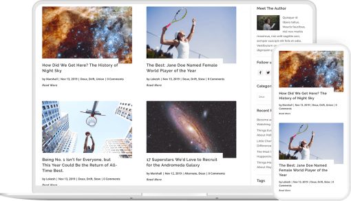 Blog page layouts for Divi 4