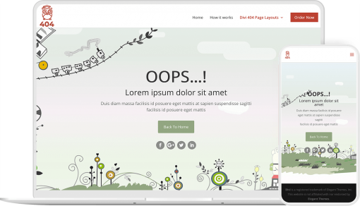 Divi 404 Extended is a 404 page layout plugin for Divi