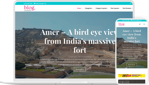 Divi Blink is a premium blogging child theme for Divi with multiple homepage variations