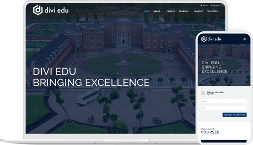 Divi Edu child theme provides you with the pre-built pages and layouts to create educational website with Divi
