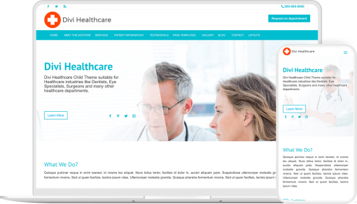A healthcare Divi child theme for experts of different health department
