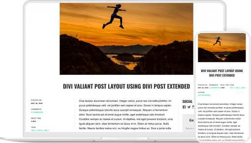 Divi Post Extended is a post layout plugin for Divi