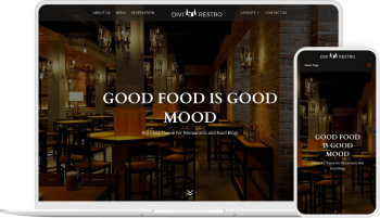 Divi Restro child theme enables you to create restaurant website quick and easy