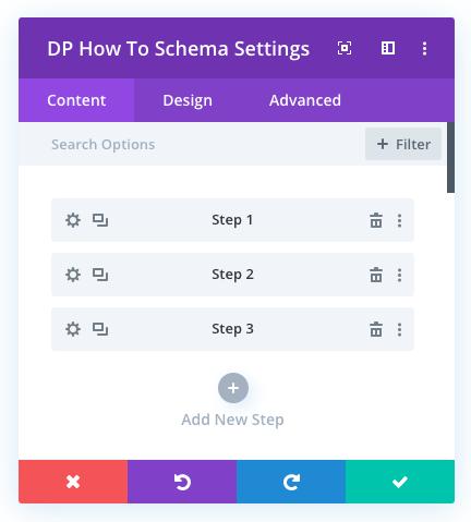 Divi schema steps to create Divi structured data pages