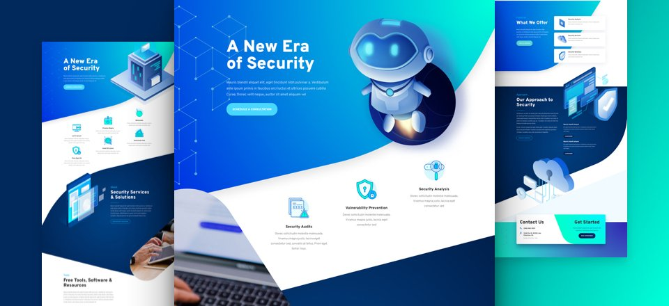 Divi cyber security layout