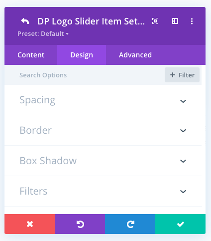 Logo slider individual logo design tab