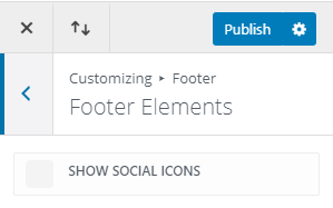 Show social icons on footer of divi