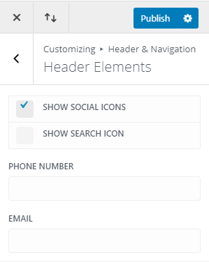 Show social icons on top bar of divi