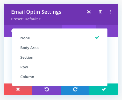 Additional sticky limit options in the Divi theme