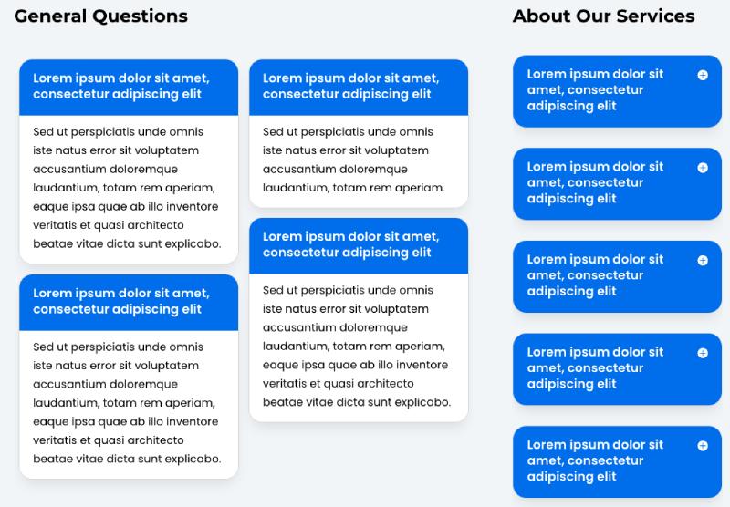 Divi Plus FAQ Page Schema examples
