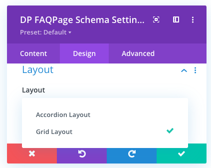FAQ Page Schema layouts for Divi
