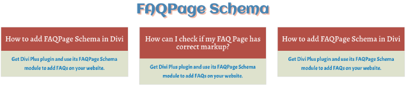 FAQ Page Schema with question and answer text customizations
