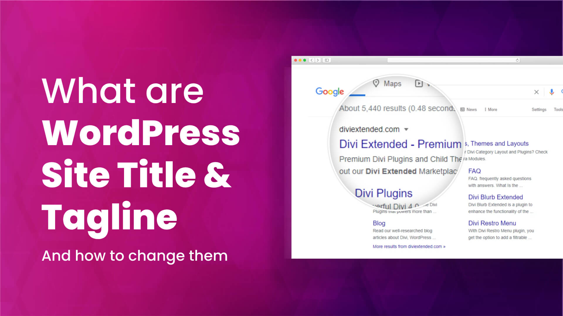What are WordPress site title and tagline
