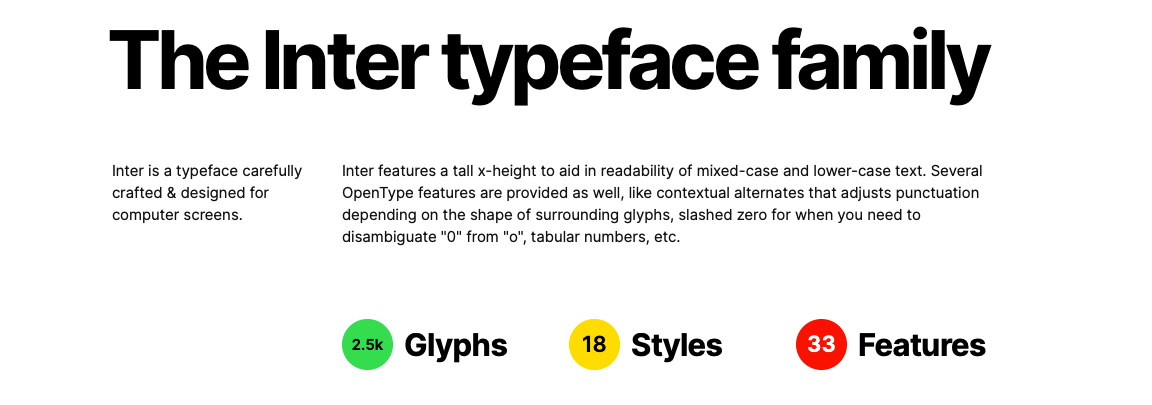 WordPress 5.3 Typeface Inter