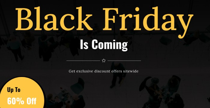 Black Friday Divi Plus template