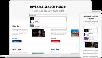 Divi Ajax Search Plugin